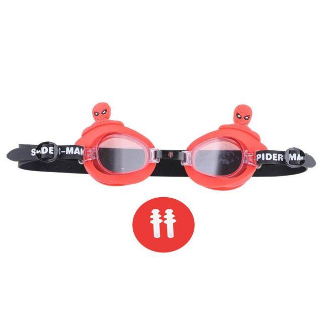 Marvel - Spiderman Kids 3D Swim Goggle With Free Ear Plug & Pvc Case