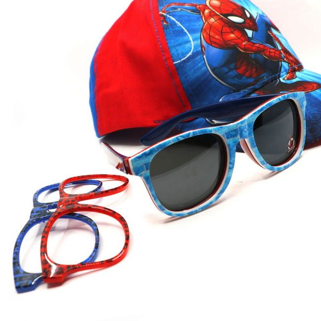 Marvel - Spiderman Kids Interchangeable Frame Sunglasses Set