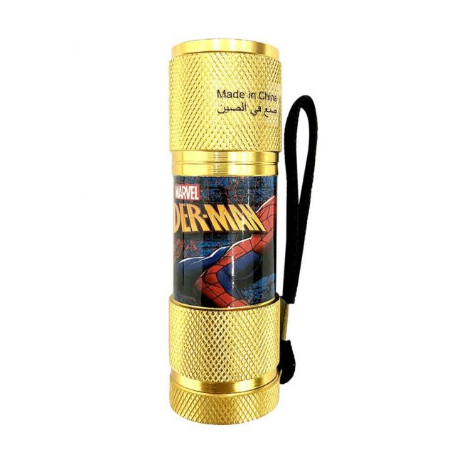 Marvel - Spiderman Portable Led Torch Includes Wrist Strap
