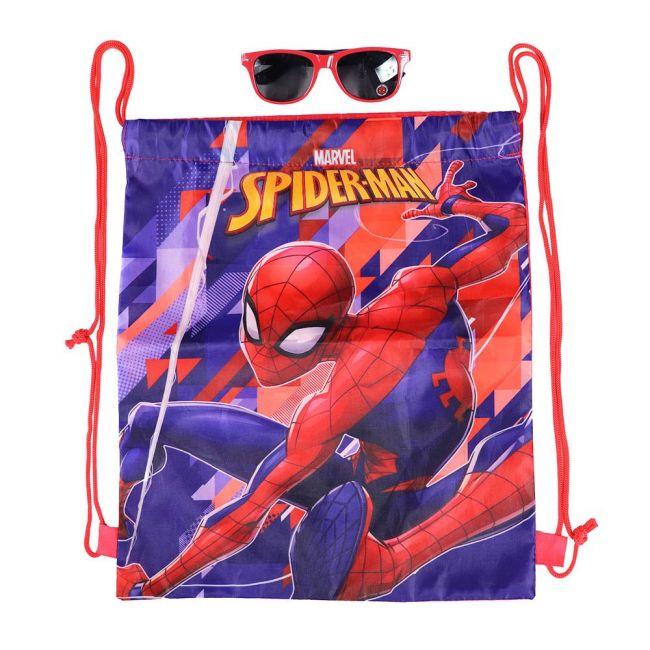 Marvel - Spiderman Printed Drawstring Bag With Sunglasses