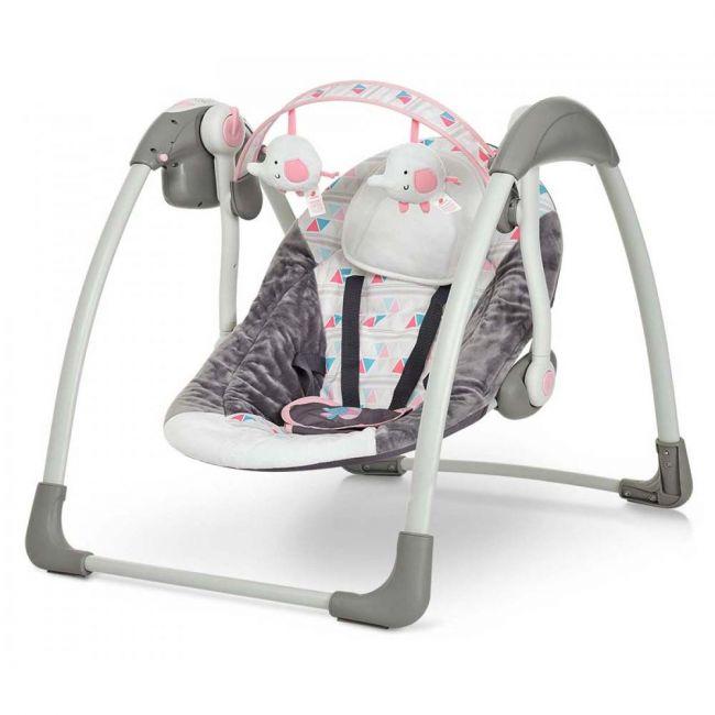 Mastela Deluxe Portable Pink Swing
