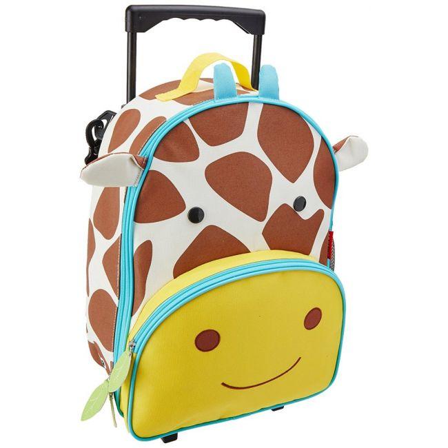 Skip Hop Zoo Kids Rolling Luggage Giraffe