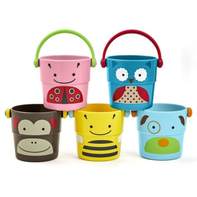 SkipHop Zoo Stack & Pour Buckets