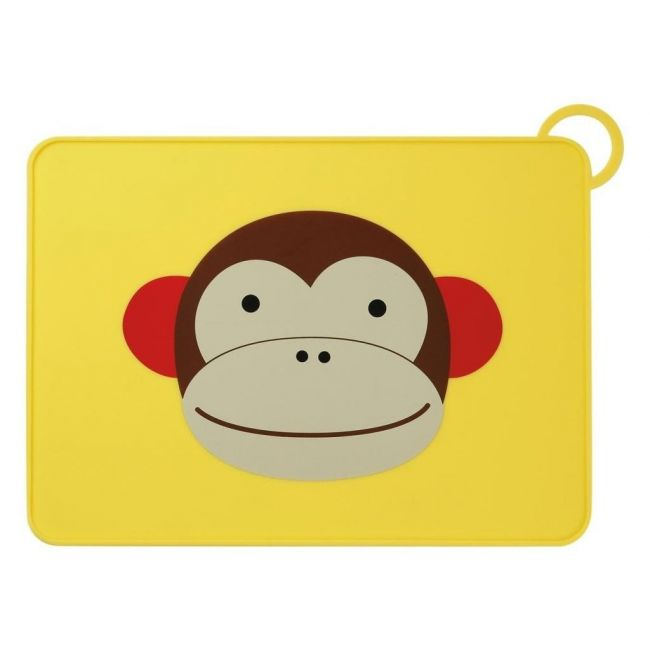 SkipHop Zoo Kid's Silicone Placemat, Monkey