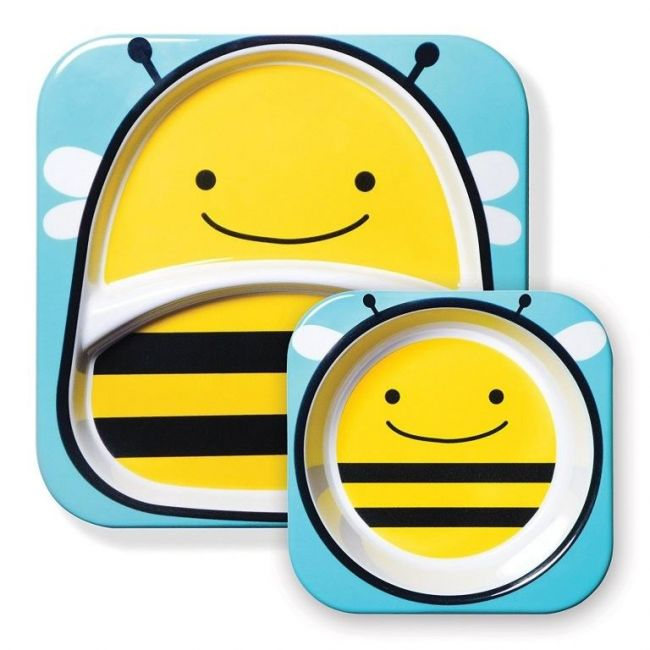 SkipHop Zoo Kid's Tableware Set, Bee
