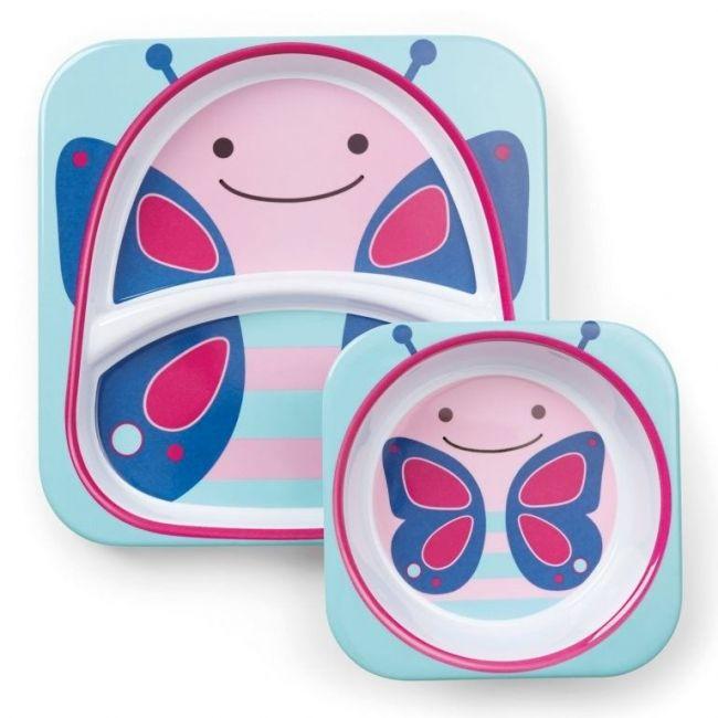 SkipHop Zoo Kid's Tableware Set, Butterfly