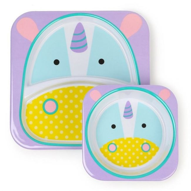 SkipHop Zoo Kid's Tableware Set, Unicorn
