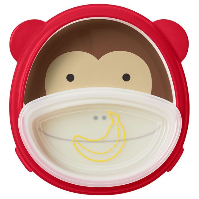 SkipHop - Zoo Smart Serve Plate & Bowl Set - Monkey