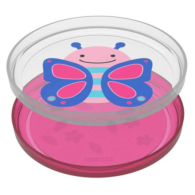 SkipHop - Zoo Smart Serve Non-Slip Plates Butterfly