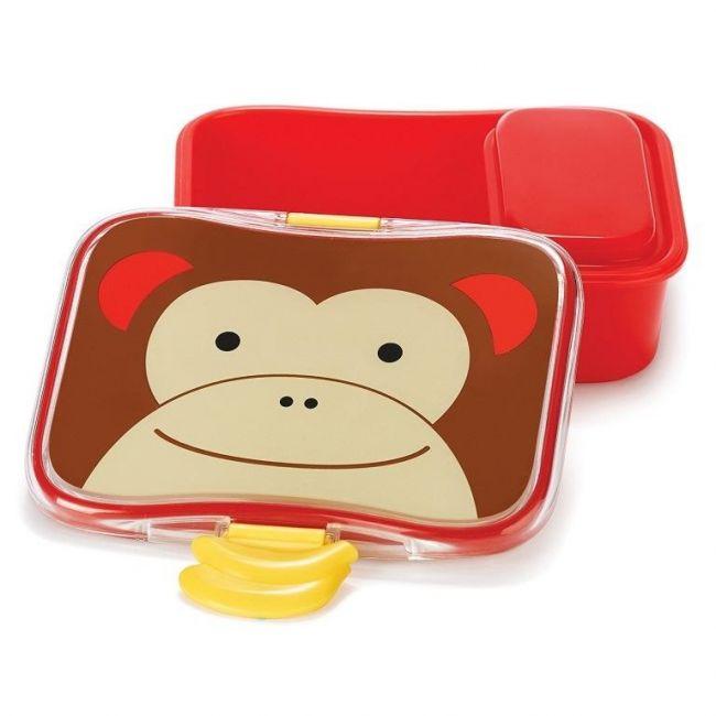 SkipHop Zoo Kid's Lunch Box Kit, Monkey