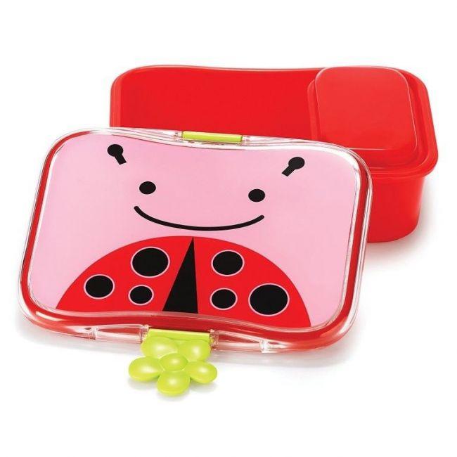 SkipHop Zoo Kid's Lunch Box Kit, Ladybug