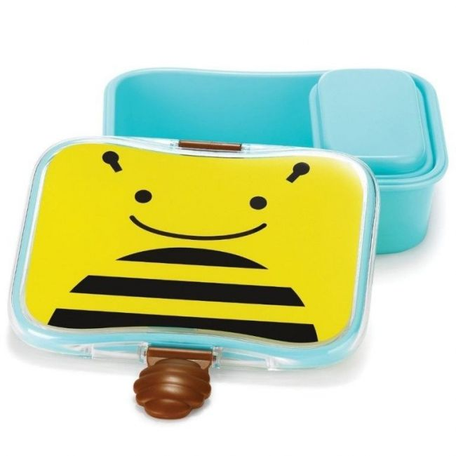 SkipHop Zoo Kid's Lunch Box Kit, Bee