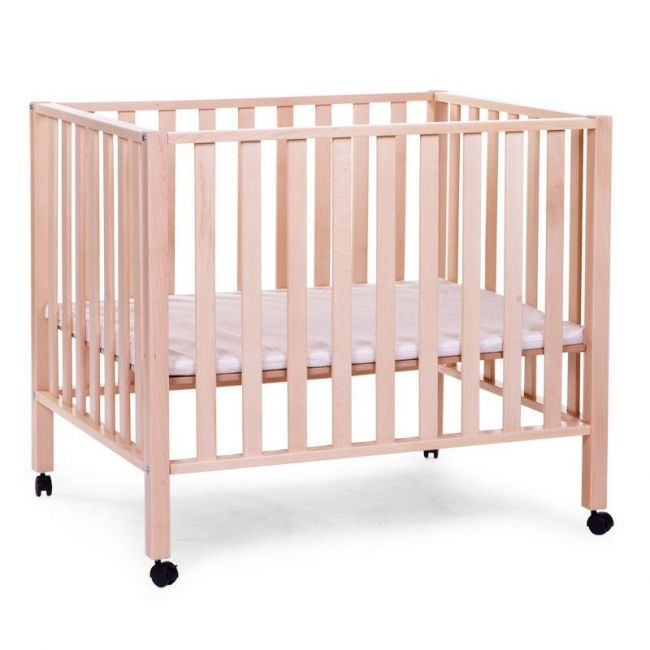 Childhome Natural Beech Playpen 94 with Wheels