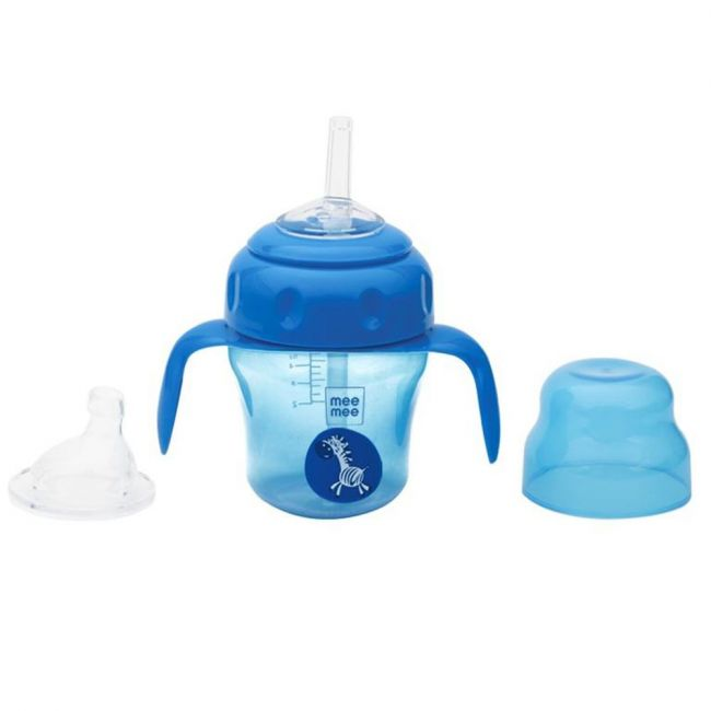 Mee Mee - 150 Ml 2 In 1 Spout And Straw Sipper Cup 150 Ml Blue