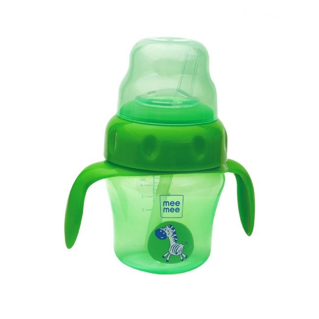 Mee Mee - 150 Ml 2 In 1 Spout And Straw Sipper Cup 150 Ml Green