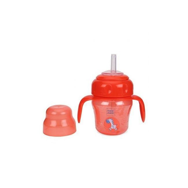 Mee Mee - 150 Ml 2 In 1 Spout And Straw Sipper Cup 150 Ml Red