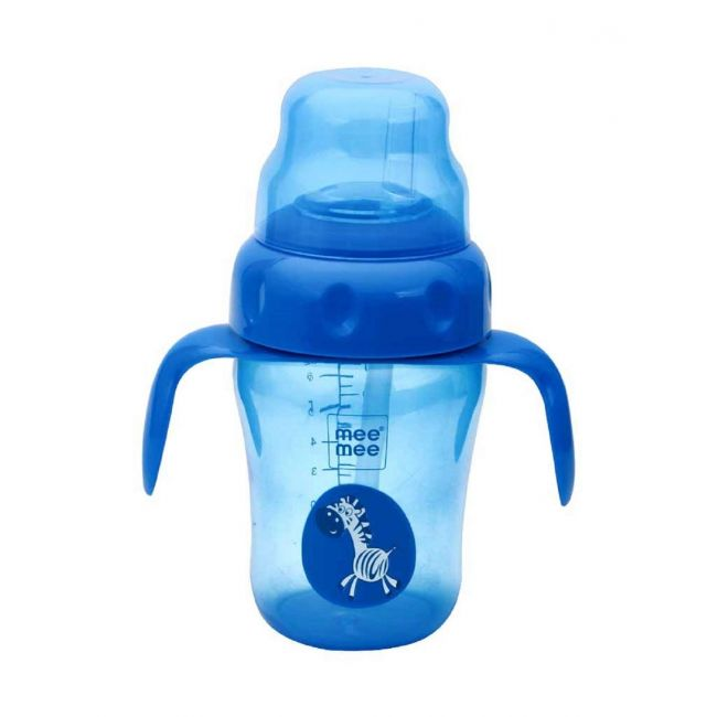 Mee Mee - 210 Ml 2 In 1 Spout And Straw Sipper Cup Blue