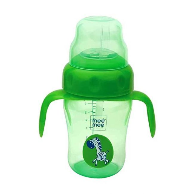 Mee Mee - 210 Ml 2 In 1 Spout And Straw Sipper Cup Green