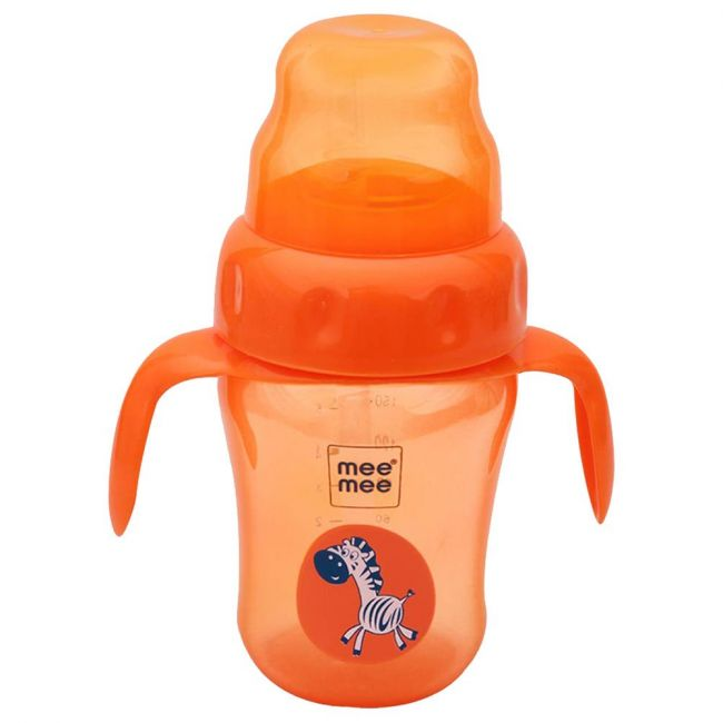 Mee Mee - 210 Ml 2 In 1 Spout And Straw Sipper Cup Orange