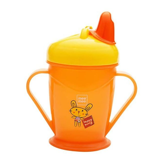 Mee Mee - Easy Grip Sipper Cup With Twin Handle 180 Ml Orange