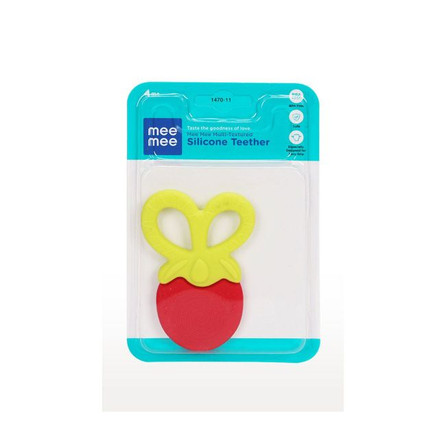Mee Mee - Multi Textured Silicone Teether Red