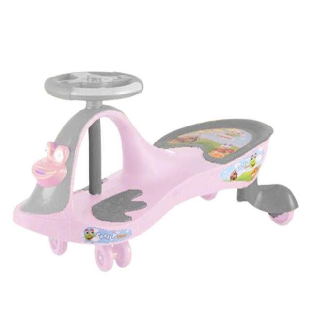 Megastar - Foot To Floor Ride On Swinger Twister Design Car - Pink