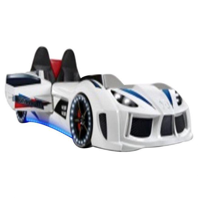 Megastar - Genesis Premium Car Bed -White
