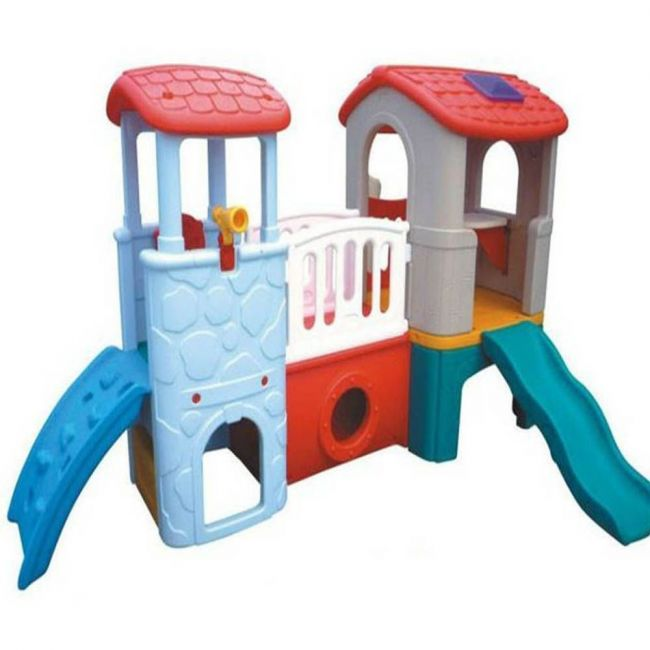 Megastar - Large Play Slide With Twin Towers White