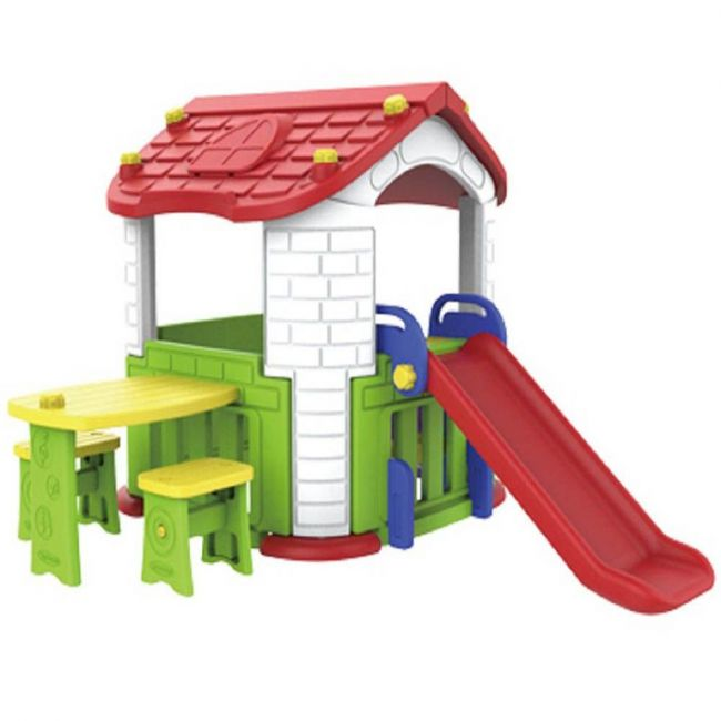 Megastar - Multi Activities Tm Colorful Playhouse With Table , Chairs & Slide