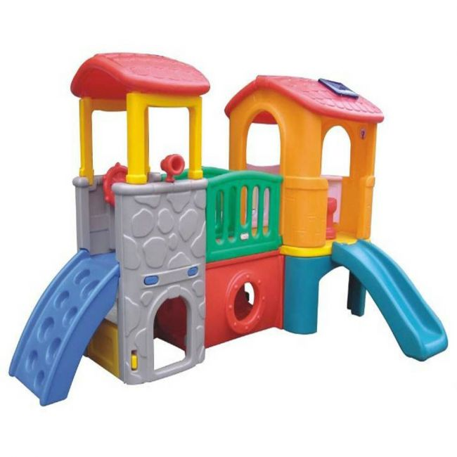 Megastar - Play Slide With Twin Tower Multicolor