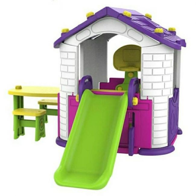 Megastar - Purplish Pink Toddler Tm Playhouse With 3 Play Activities