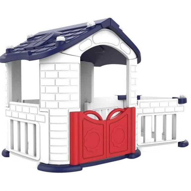 Megastar - Red N Blue Toddler Tm Playhouse With Playpen Area