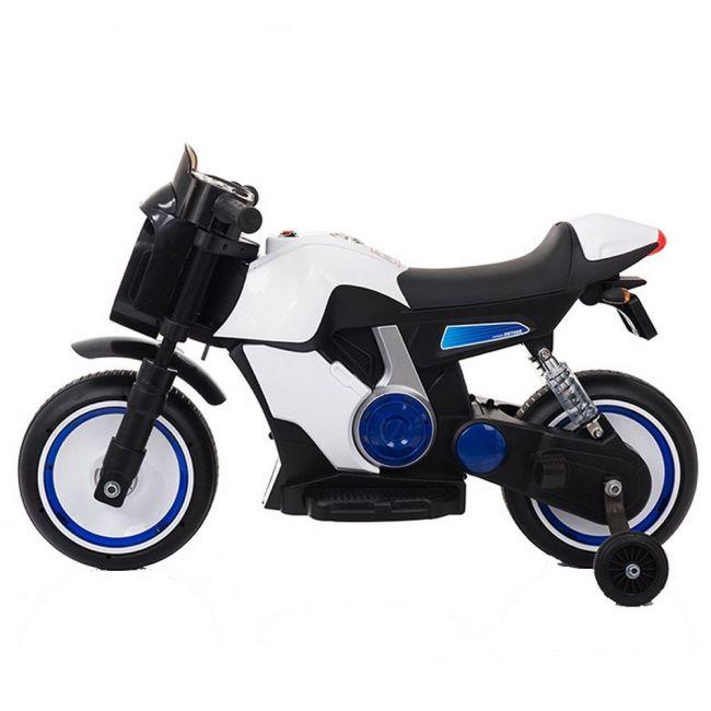 Megastar - Ride On Ninja Motorbike - White Electric Motorcycle