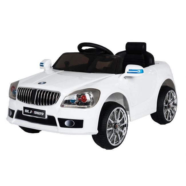 Megastar - Rideon 6V Turbo Electric Motor Car With Remote - White