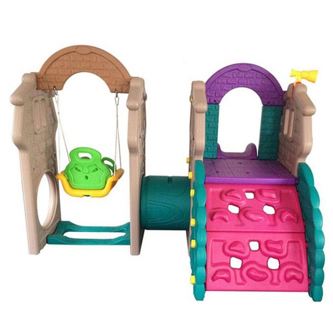 Megastar - Tunnel Playhouse With Swing And Slide Garden Play