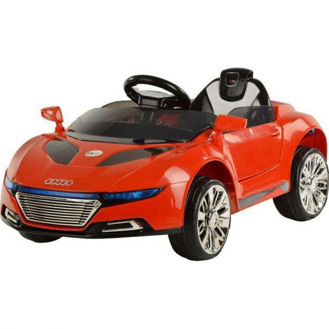Megastar Audi Style Rechargeable Battery Electric Ride On Powered Car Red