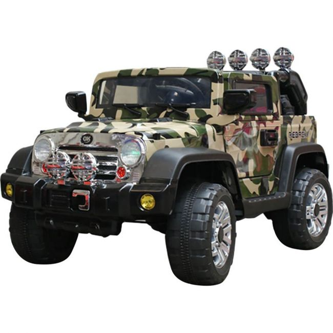 Megastar - Electric Baby Jeep Camouflage 12V 2.4G Rc Soft Start And Radio