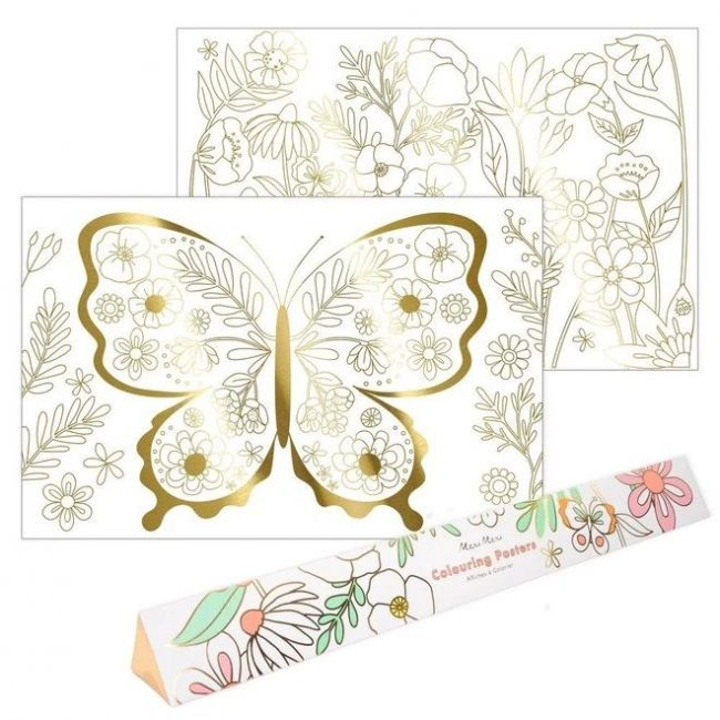 Meri Meri - Butterfly Colouring Posters