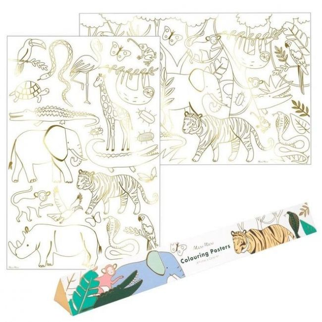 Meri Meri - Jungle Colouring Posters