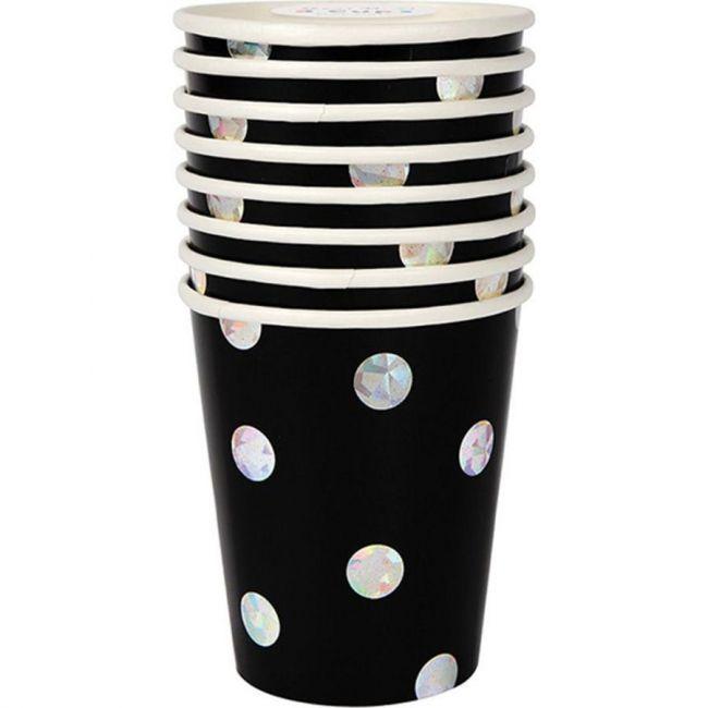 Meri Meri Black Holographic Cups