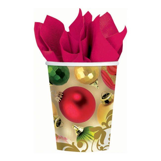 Merry Moments Cups 9oz, 8pcs