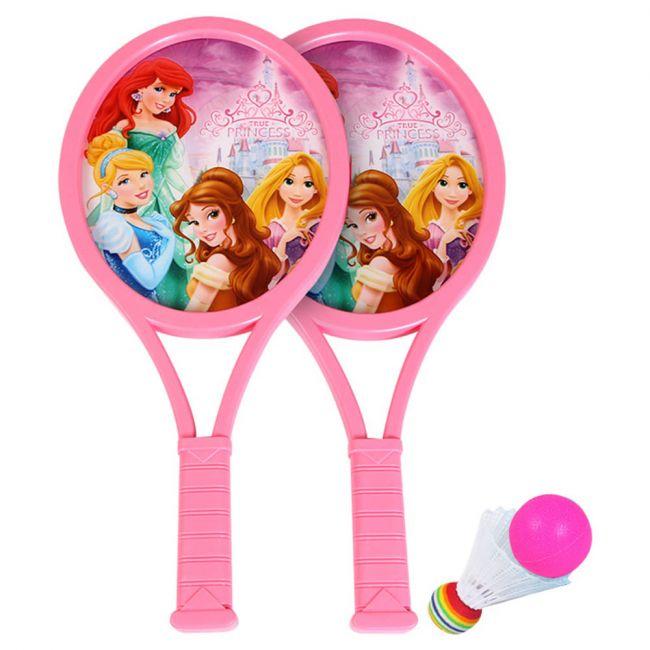 Mesuca - Kids Plastic Badminton/Tennis Racket Set - Pink