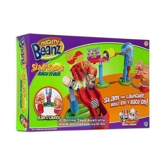 Mighty Beanz - Slam And Smash Race Track