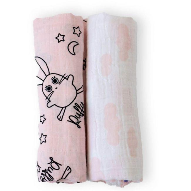 Milk & Moo - Chancin Muslin Swaddle Blanket Set of 2