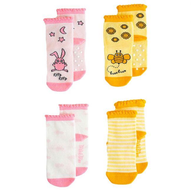 Milk&Moo Buzzy Bee & Canchin Rabbit Baby Socks 4pcs 0-12M
