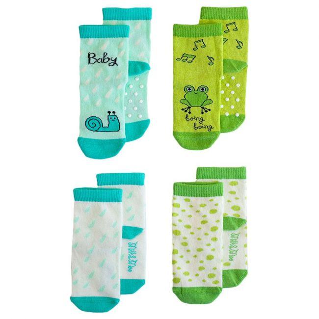 Milk&Moo Cacha Frog & Sangaloz Snail Baby Socks 4pcs 0-12M