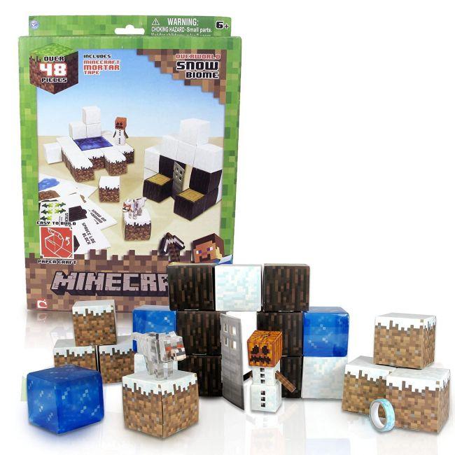 Mine Craft - Paper Craft Snow Set