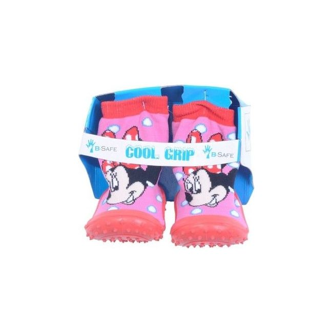 Cool Grip Pink Baby Shoe Socks Minnie Mouse