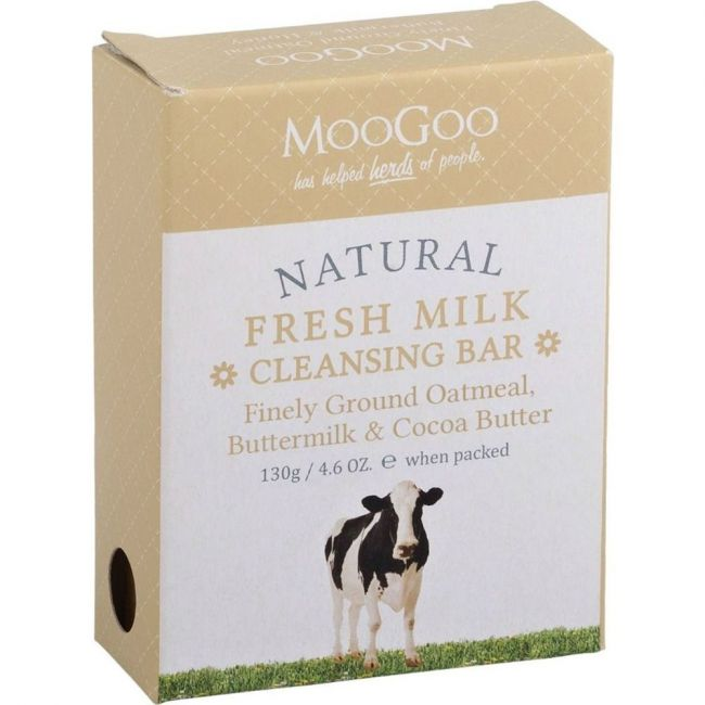 MooGoo Finely Ground Oatmeal Cleansing Bar - 130g