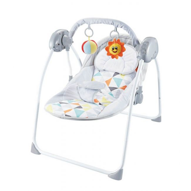 Moon - Bungee Baby Electric Wild Portable Compact Automatic Swing With Melodies- Light Grey, 3 Months Above